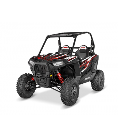 RZR S 900 GRAPHICS WRAP KIT - RED DRAGON (FOR POLY DOORS)