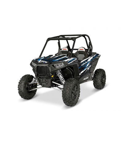 RZR XP 1000 GRAPHICS WRAP KIT - BLUE DRAGON (FOR POLY DOORS)