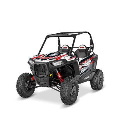 RZR S 900 GRAPHICS WRAP KIT - RED RACE (FOR POLY DOORS)