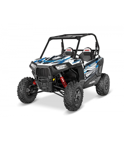 RZR S 900 GRAPHICS WRAP KIT - BLUE RACE (FOR POLY DOORS)