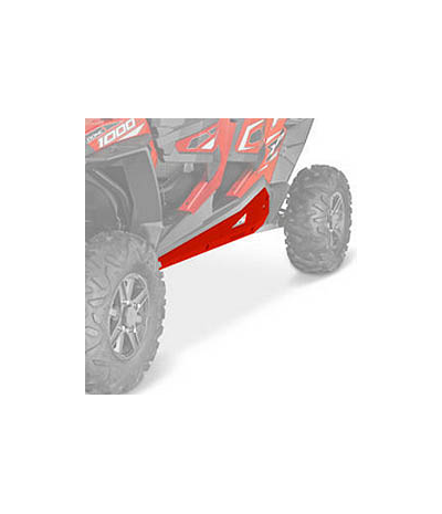 RED LOW PRO ROCK SLIDERS BY POLARIS XP 1000 4