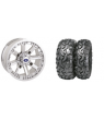 "WREC 14"" LUSTER RIM WITH ITP BAJA CROSS TIRE KIT"