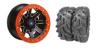 "REBLR 14"" BLACK RIM & MOTO MUD TIRE KIT"