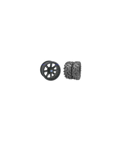 "WREC 14"" BLACK RIM & MOTO MUD TIRE KIT"