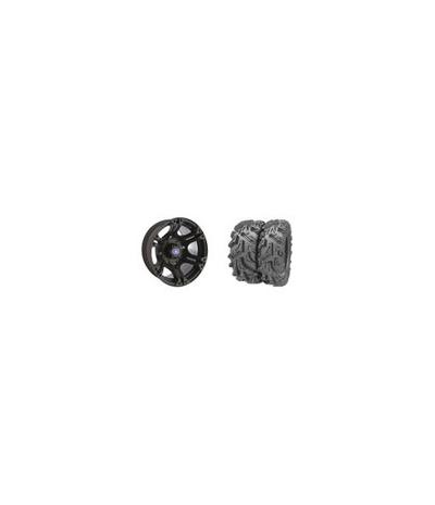 "SIXR 14"" BLACK RIM & MOTO MUD TIRE KIT"
