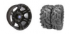 "SIXR 14"" BLACK RIM & MOTO MUD TIRE KIT"