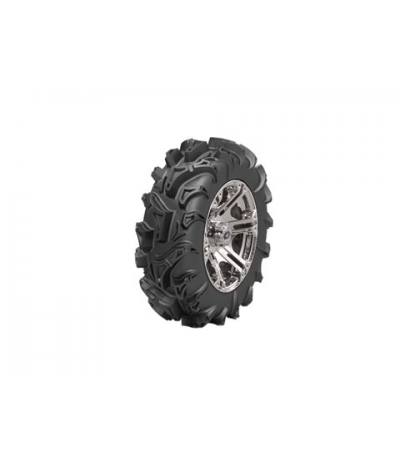 "SIXR 14"" MACHINED RIM & MOTO MUD TIRE KIT"