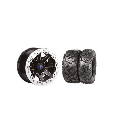 """REBLR 14"""" BLACK RIM & MOTO ATTACK TIRE KIT"""