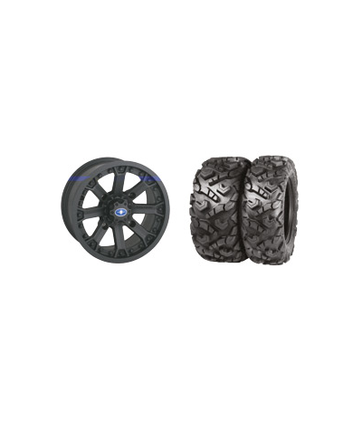 "WREC 14"" BLACK RIM & MOTO ATTACK TIRE KIT"