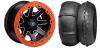 """REBLR 14"""" BLACK RIM & STI V-ROLL TIRE KIT"""