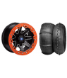 "REBLR 14"" BLACK RIM & STI V-ROLL TIRE KIT"