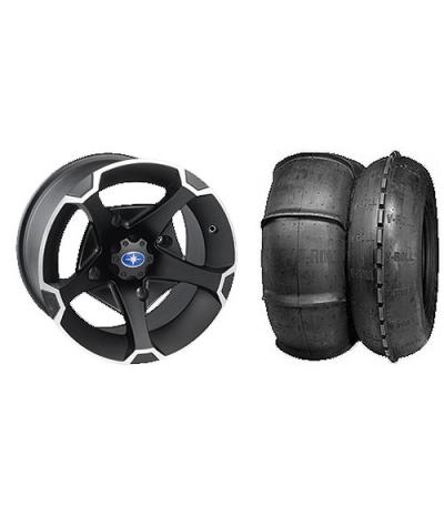 """VADER 14"""" BLACK RIM & STI V-ROLL TIRE KIT"""