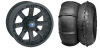 "WREC 14"" BLACK RIM & STI V-ROLL TIRE KIT"