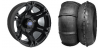 "SIXR 14"" BLACK RIM & STI V-ROLL TIRE KIT"
