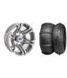 "SIXR 14"" MACHINED RIM & STI V-ROLL TIRE KIT"