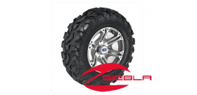 "SIXR 14"" MACHINED RIM WITH ITP BAJA CROSS TIRE KIT"