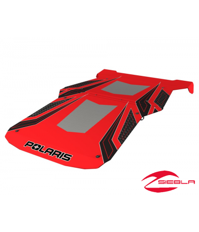 RZR FOUR PASSENGER GRAPHIC SPORT ROOF- RED BY POLARIS