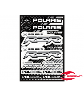 BLACK RZR STICKER SHEET BY POLARIS®