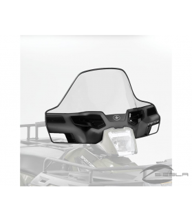 BLACK LOCK & RIDE MID WINDSHIELD FOR SPORTSMAN 400, 500, 570, 800, X2, 6X6, TOURING BY POLARIS