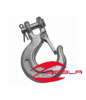 HOOK WITH SPRING-LOADED LATCH FOR ALL WINCHES