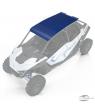 4-Seat Aluminum Roof, Blue Metallic