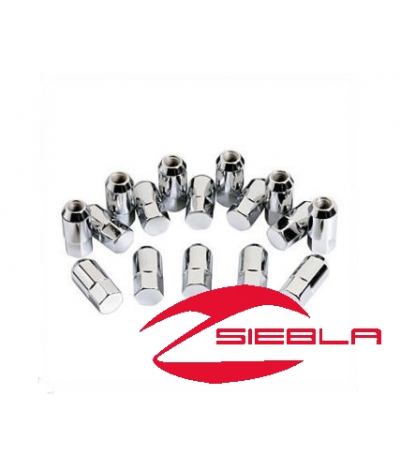 METRIC LUG NUTS FOR ALUMINUM RIMS, SET OF 16 NUTS