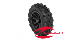 "WREC 14"" BLACK RIM WITH ITP MUD LITE XTR TIRE KIT"
