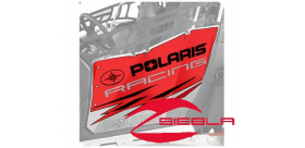 RED RACING DOOR GRAPHICS- RZR® 570, 800, 900 BY POLARIS®