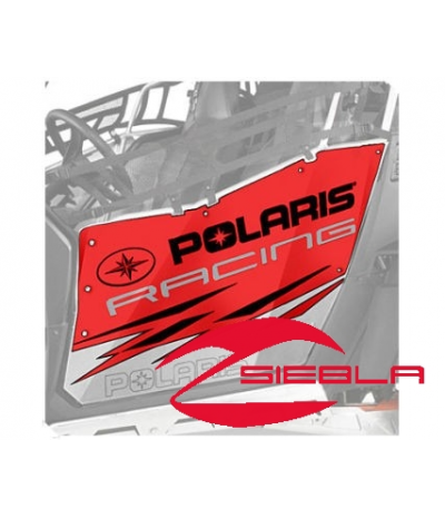 RED RACING DOOR GRAPHICS- RZR 570, 800, 900 BY POLARIS