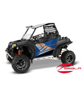 BLUE FIRE DOOR GRAPHICS- RZR 570, 800, 900 BY POLARIS
